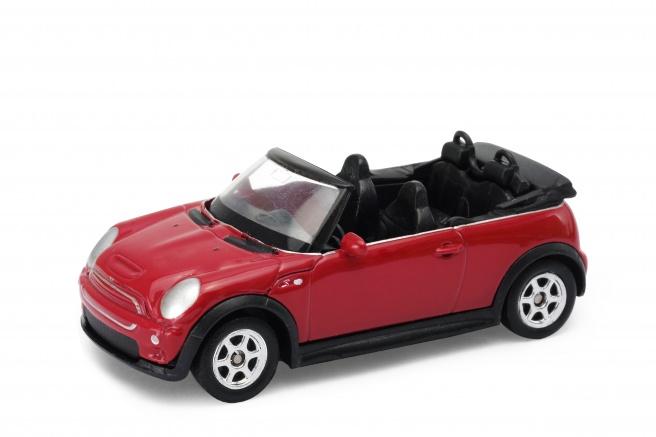 Welly Mini Cooper S cabrio model 1:24 červený