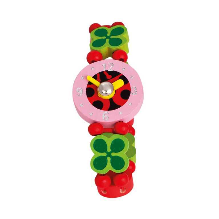 Dřevěné hračky - Dřevěné hodinky - berušky