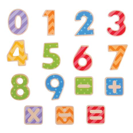 Bigjigs Toys Magnetické barevné číslice