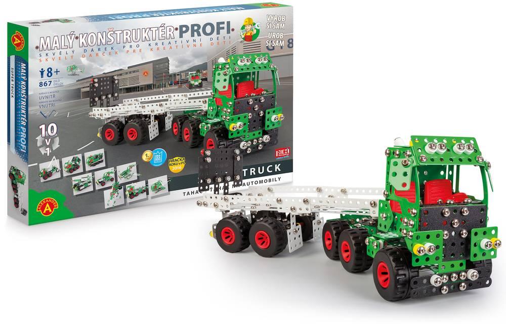 Malý konstruktér Profi super truck 10v1 Autonávěs