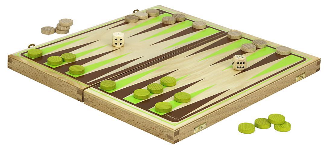 Jeujura Backgammon v dřevěném skládacím boxu