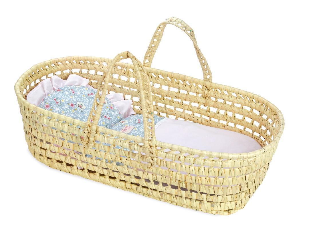 Petitcollin Proutěný přenosný košíček pro panenku 36-50cm