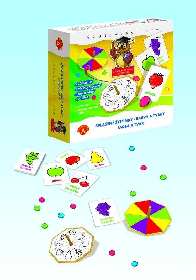 Dětské hry - Splašené žetonky - Barvy a tvary
