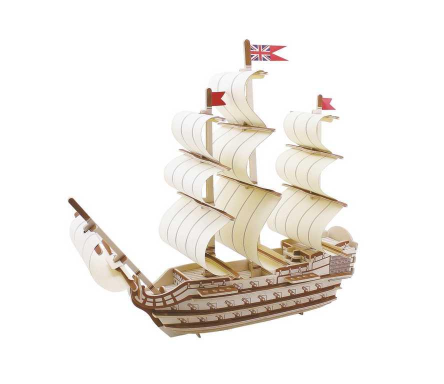 Dřevěné skládačky 3D puzzle - Dřevěný koráb Victory