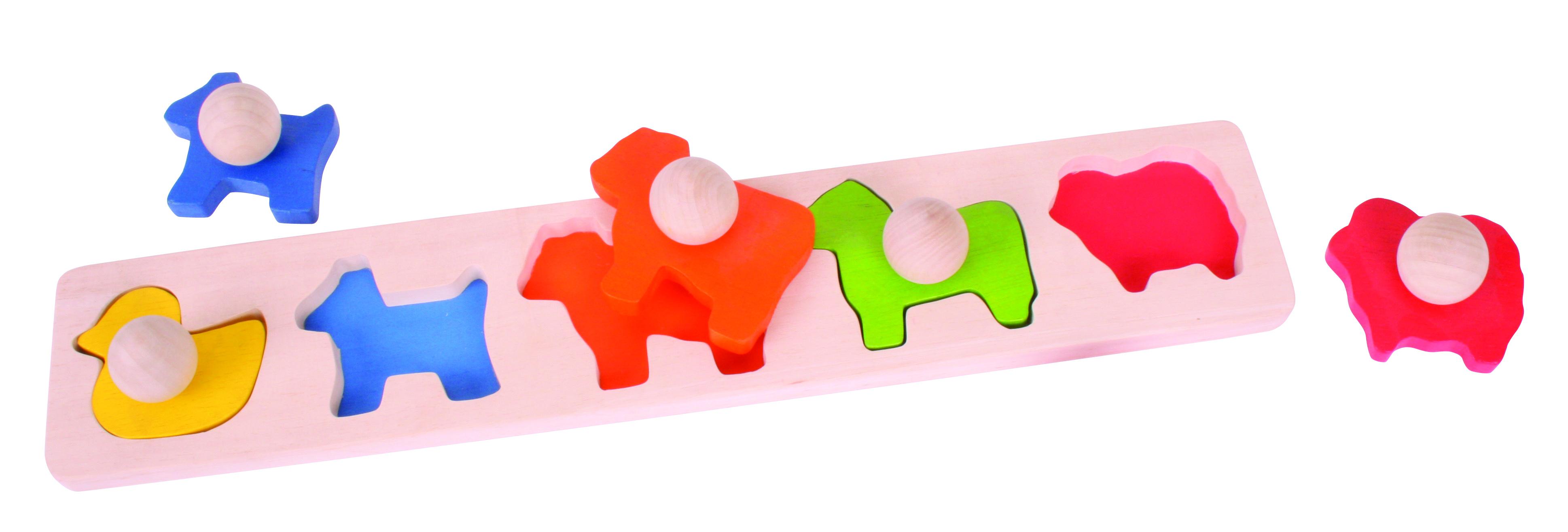 Bigjigs Baby Vkládací puzzle zvířata