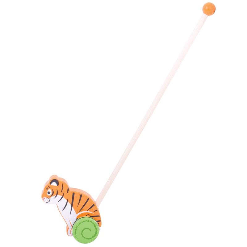 Bigjigs Baby Dřevěný jezdík Tygr