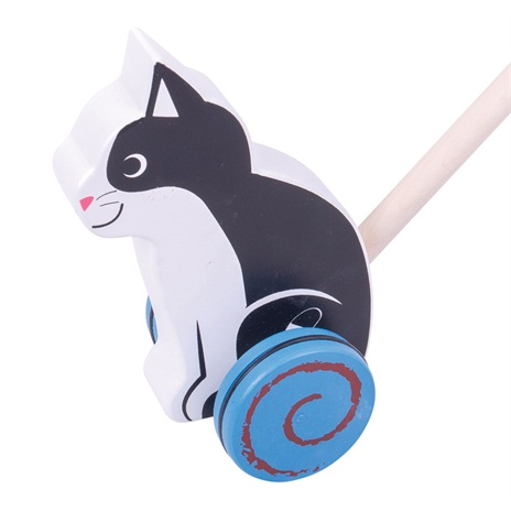 Bigjigs Baby Dřevěný jezdík Kočička