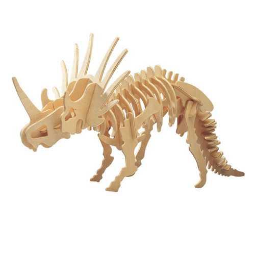 Dřevěné 3D puzzle dinosauři - velký Styracosaurus BJ006