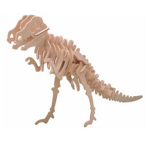 Dřevěné 3D puzzle dinosauři -velký Tyranosaurus T-REX BJ014