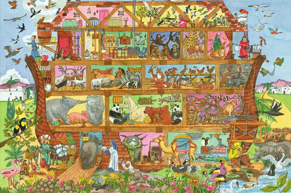 Bigjigs Toys Puzzle Noemova archa 24 dílků