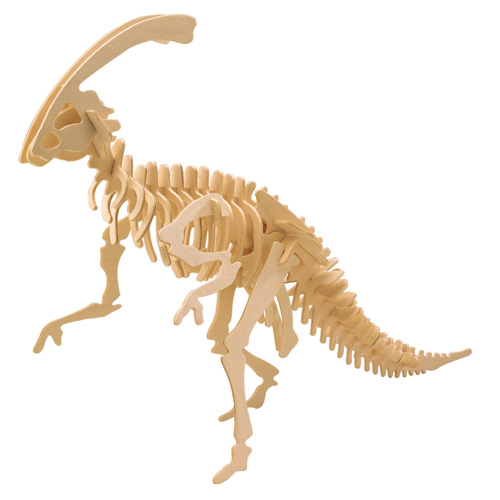 Woodcraft Dřevěné 3D puzzle velký Parasaurolophus