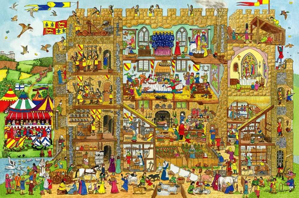 Bigjigs Toys Puzzle hrad 24 dílků