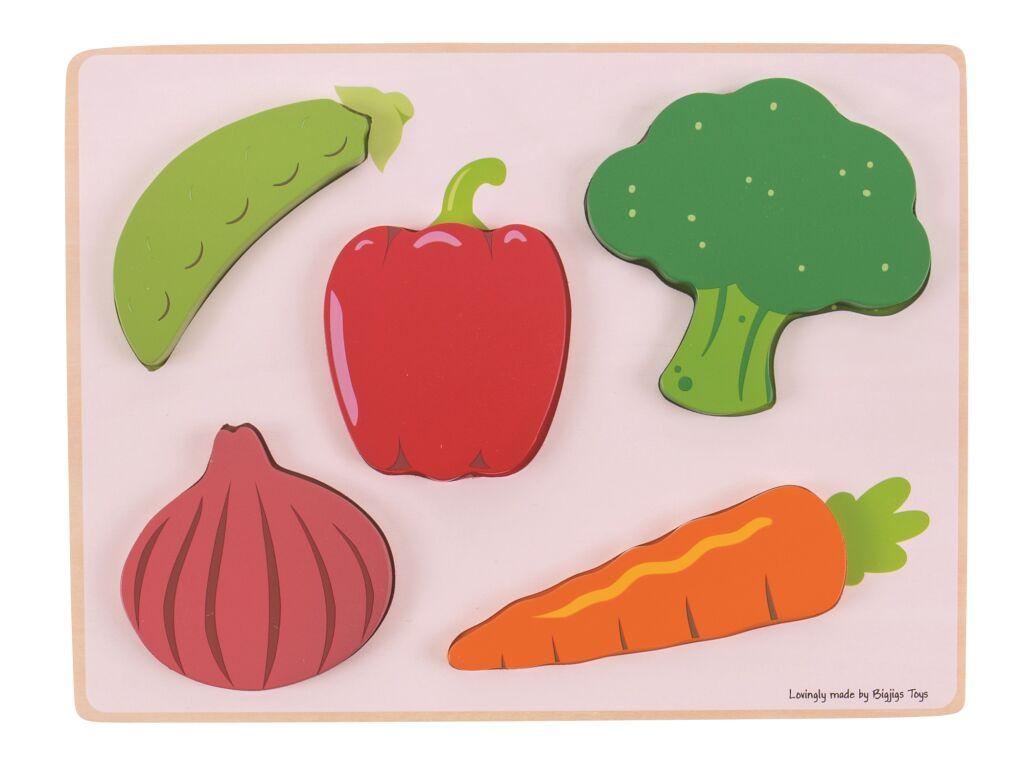 Bigjigs Toys Vkládací puzzle zelenina - poškozený obal