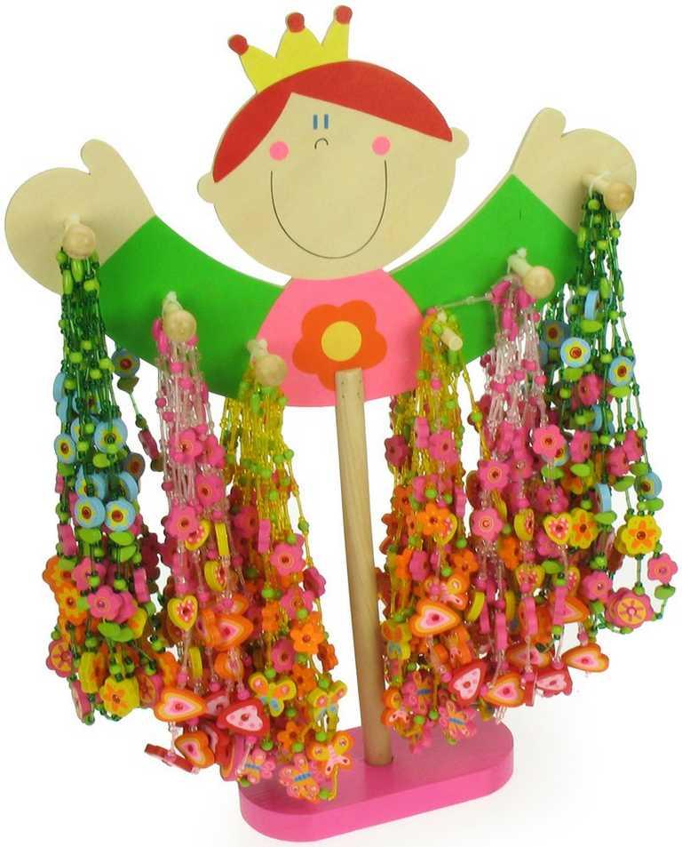 Bigjigs Toys  Dřevěné náhrdelníky 48ks