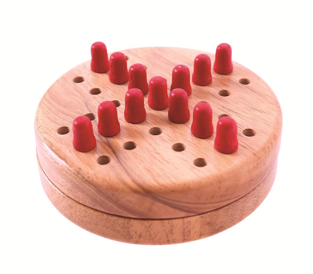 Bigjigs Toys Dřevěný mini solitaire