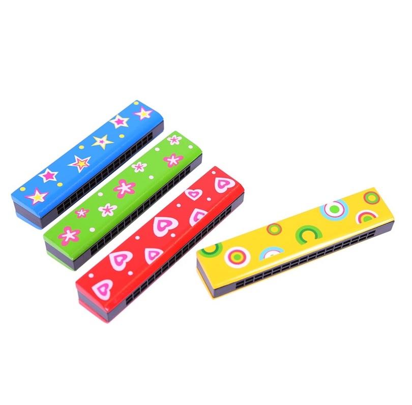 Bigjigs Toys Dřevěná foukací harmonika 1 ks
