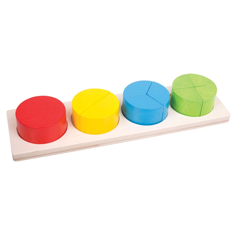 Bigjigs Toys Vkládací puzzle zlomky kulaté