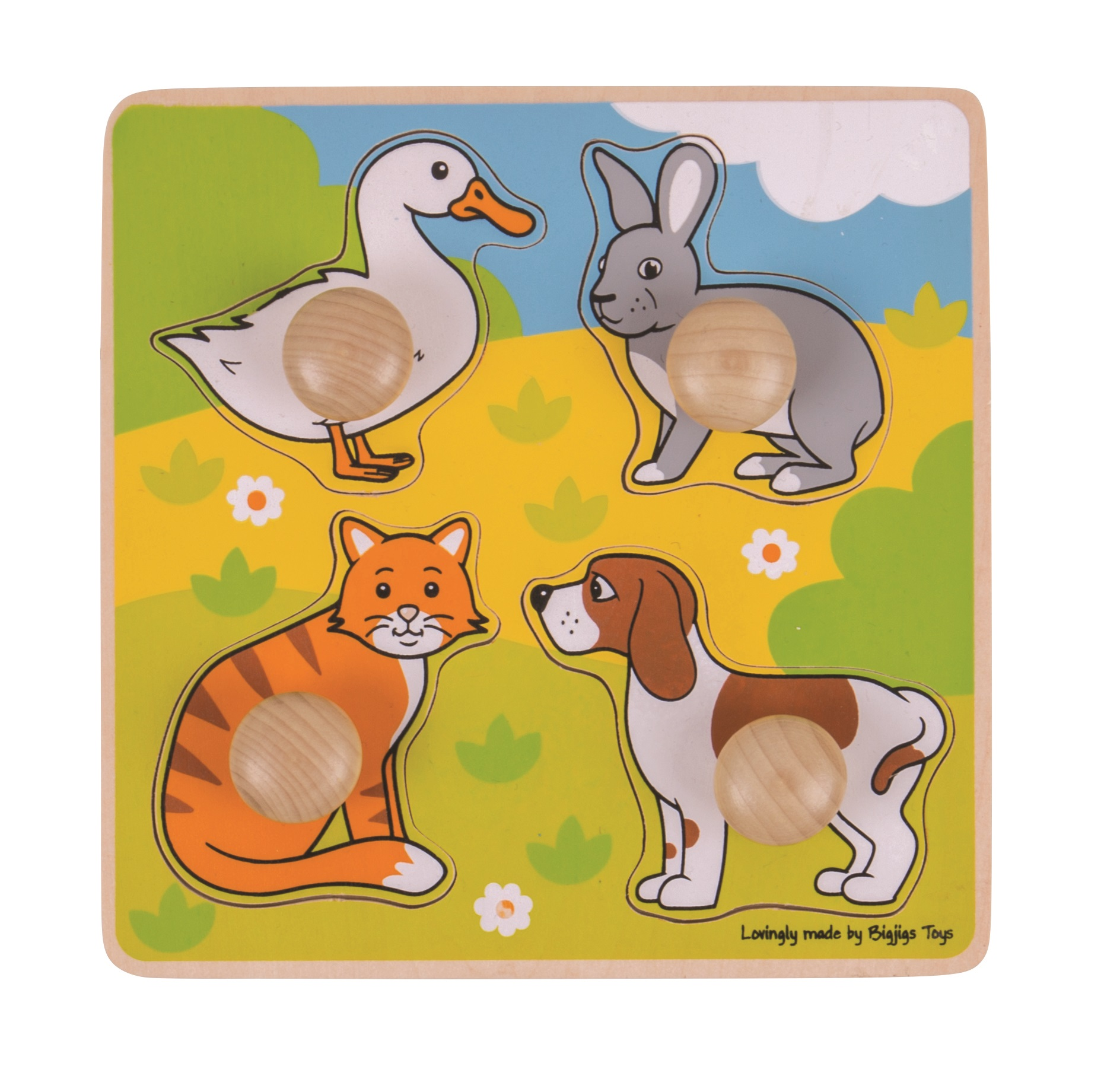 Bigjigs Toys Vkládací puzzle domácí zvířátka