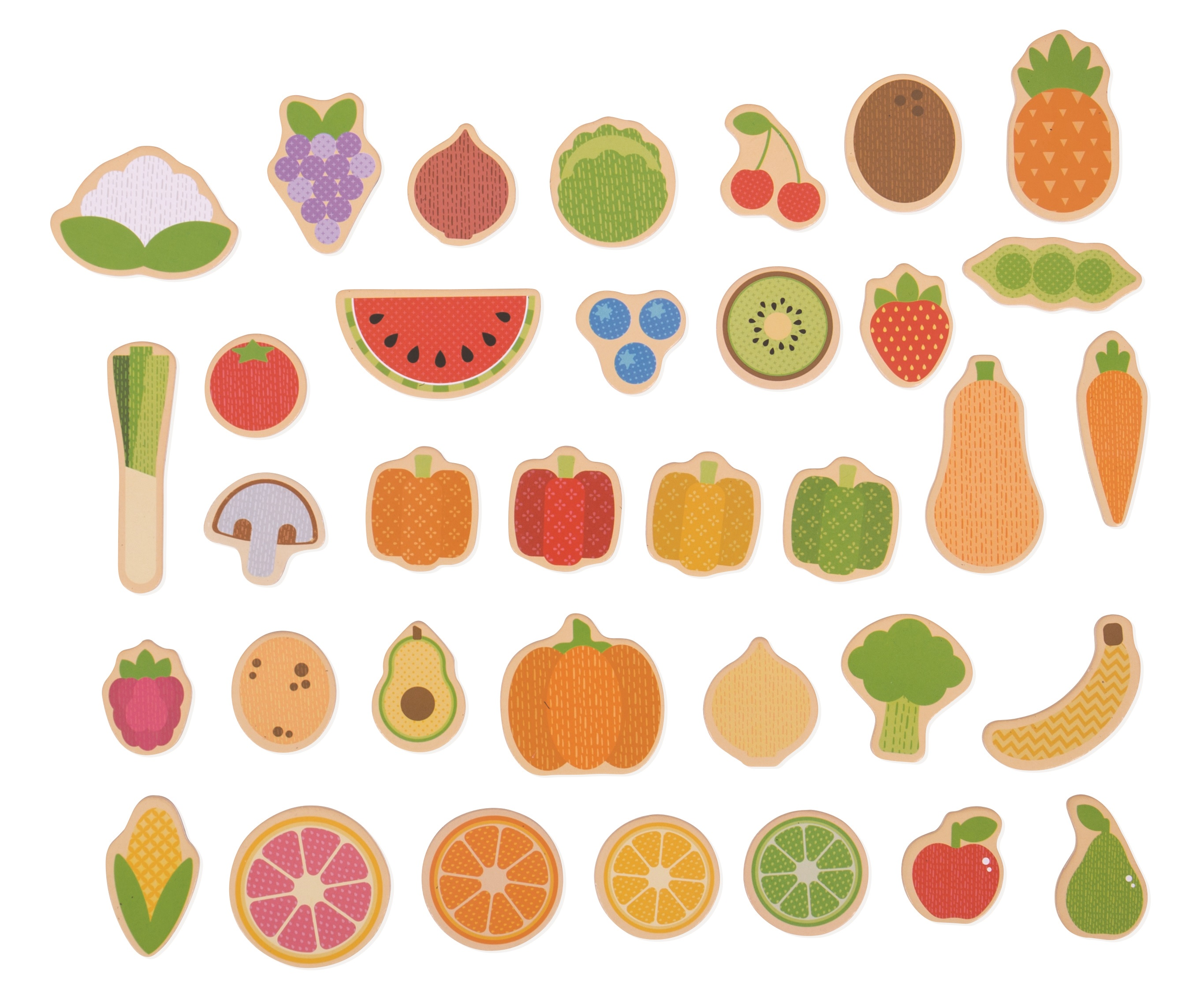 Bigjigs Toys Magnetky ovoce a zelenina