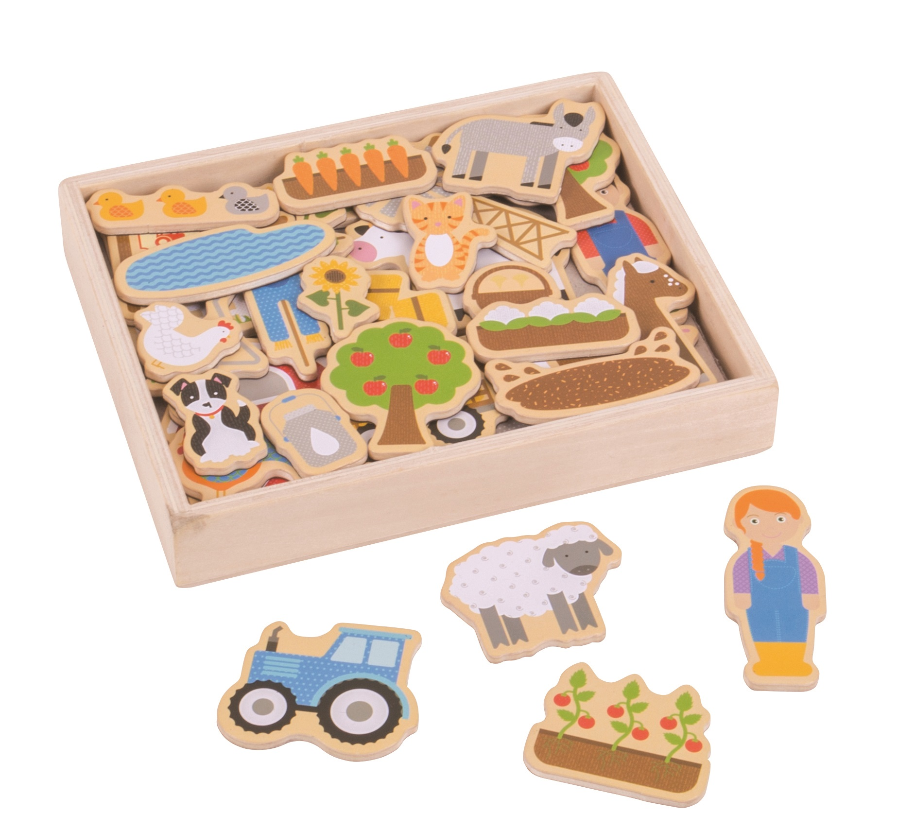Bigjigs Toys Magnetky farma