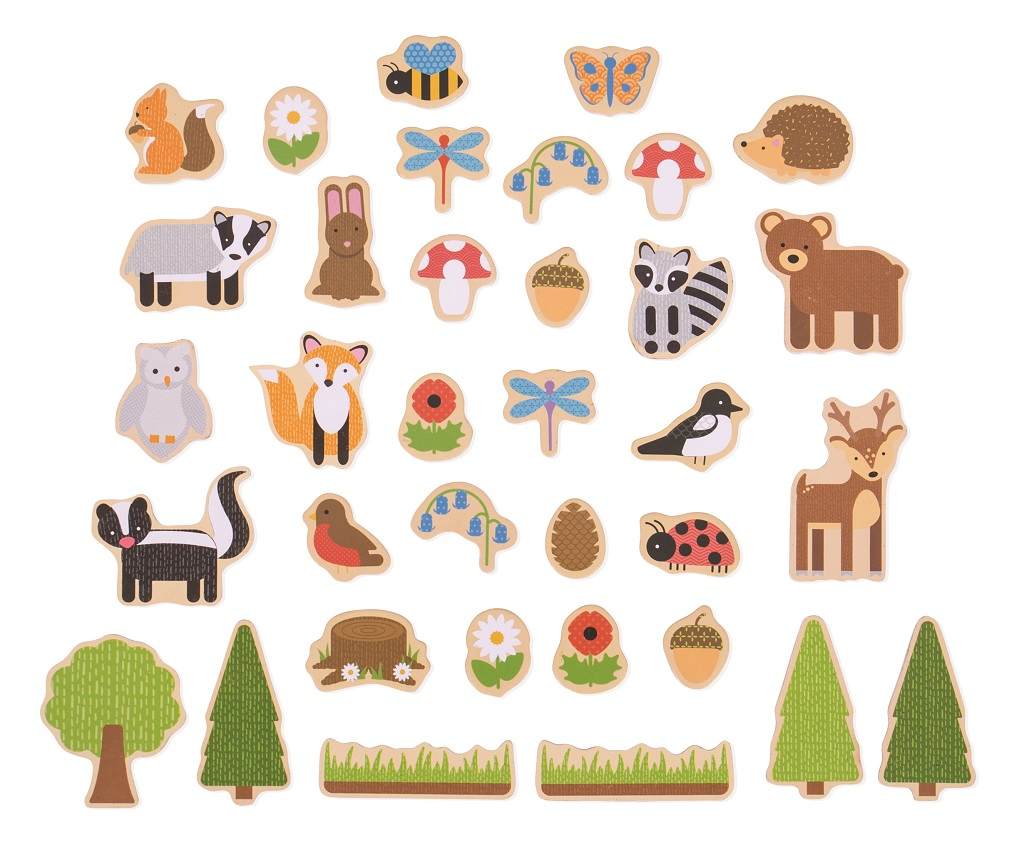 Bigjigs Toys Magnetky lesní zvířátka - poškozený obal