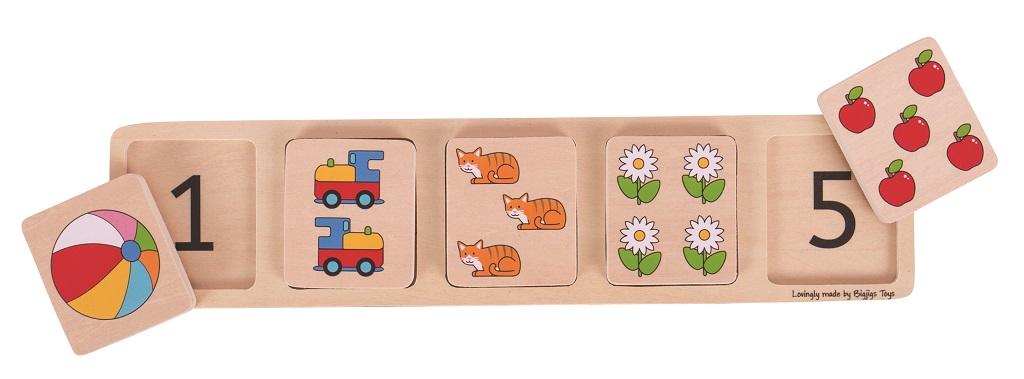 Bigjigs Toys Vkládací puzzle počítání