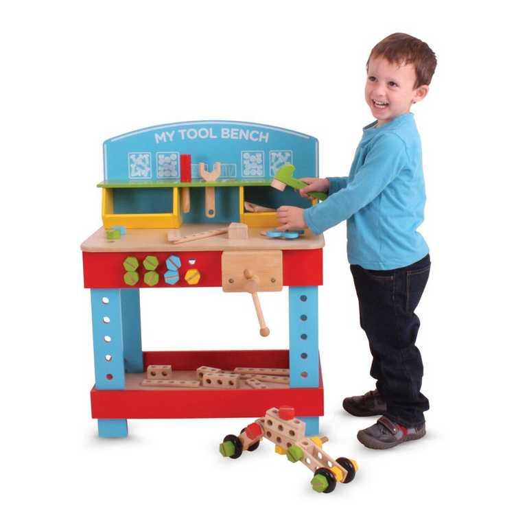 Bigjigs Toys Dřevěný pracovní stůl
