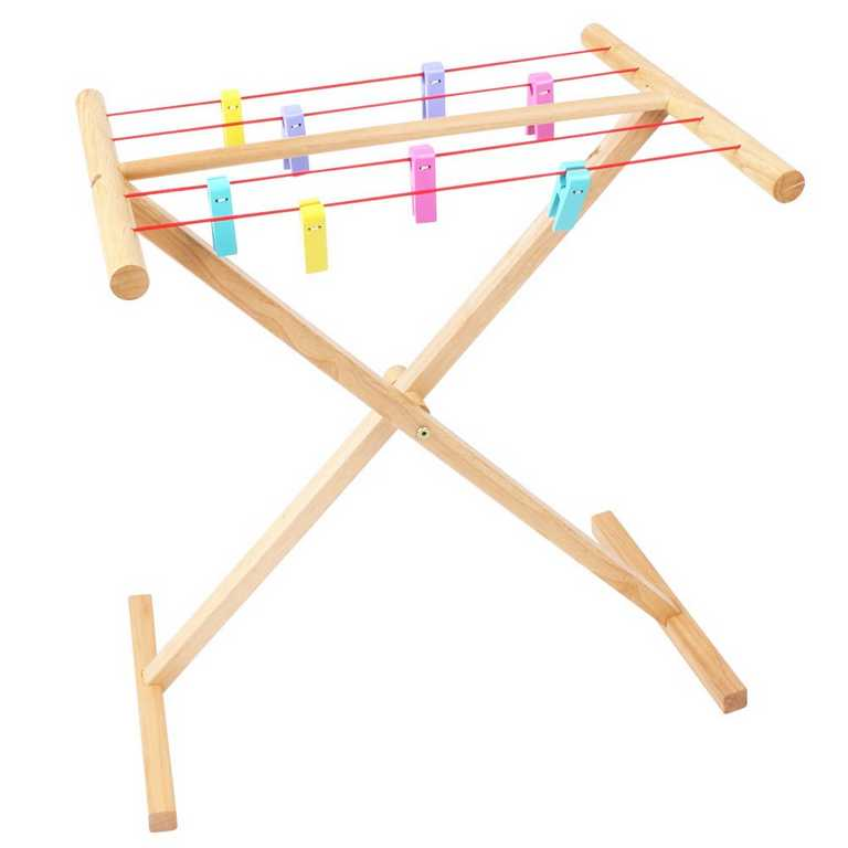 Bigjigs Toys Dřevěný sušák na prádlo