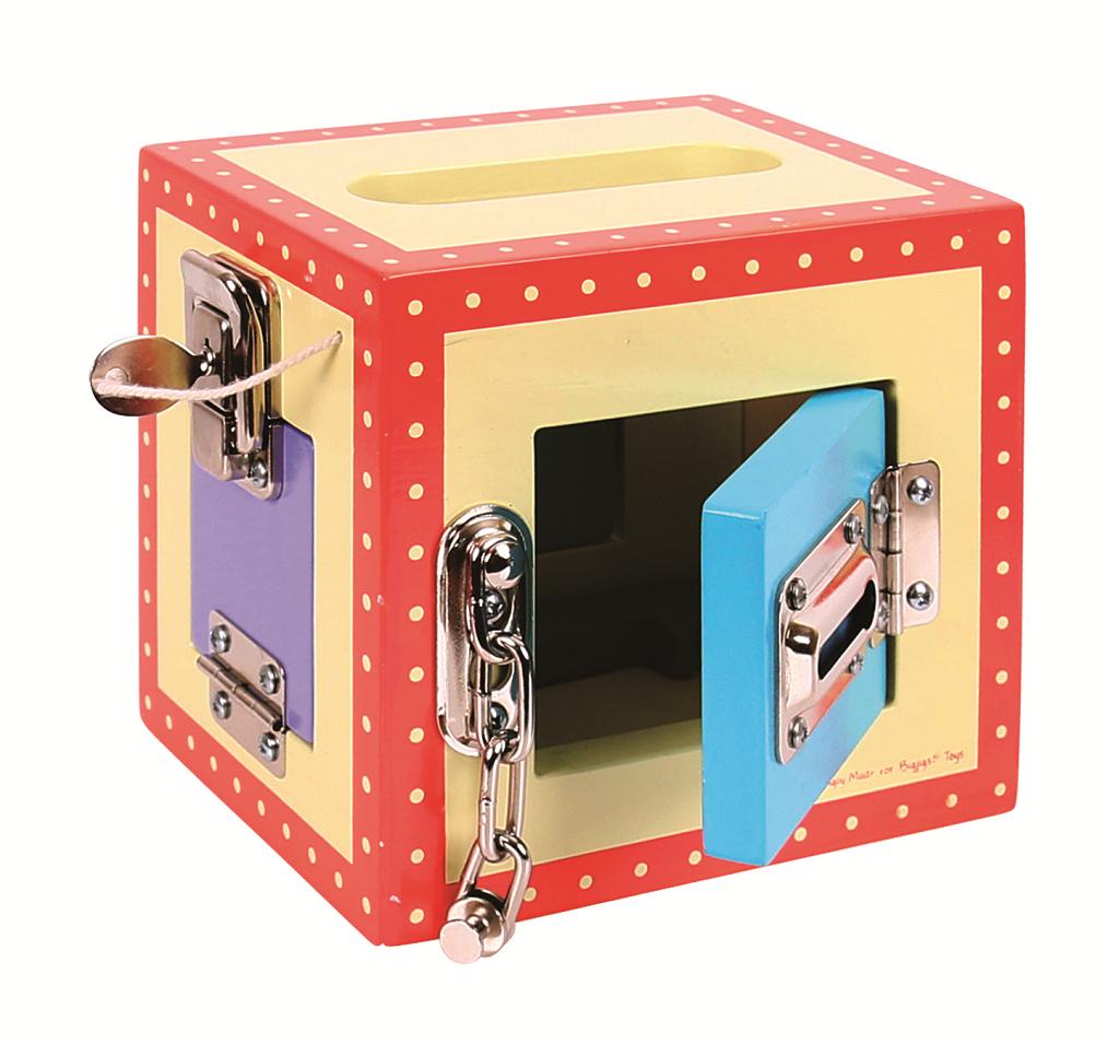 Bigjigs Toys Dřevěná skříňka se zámky