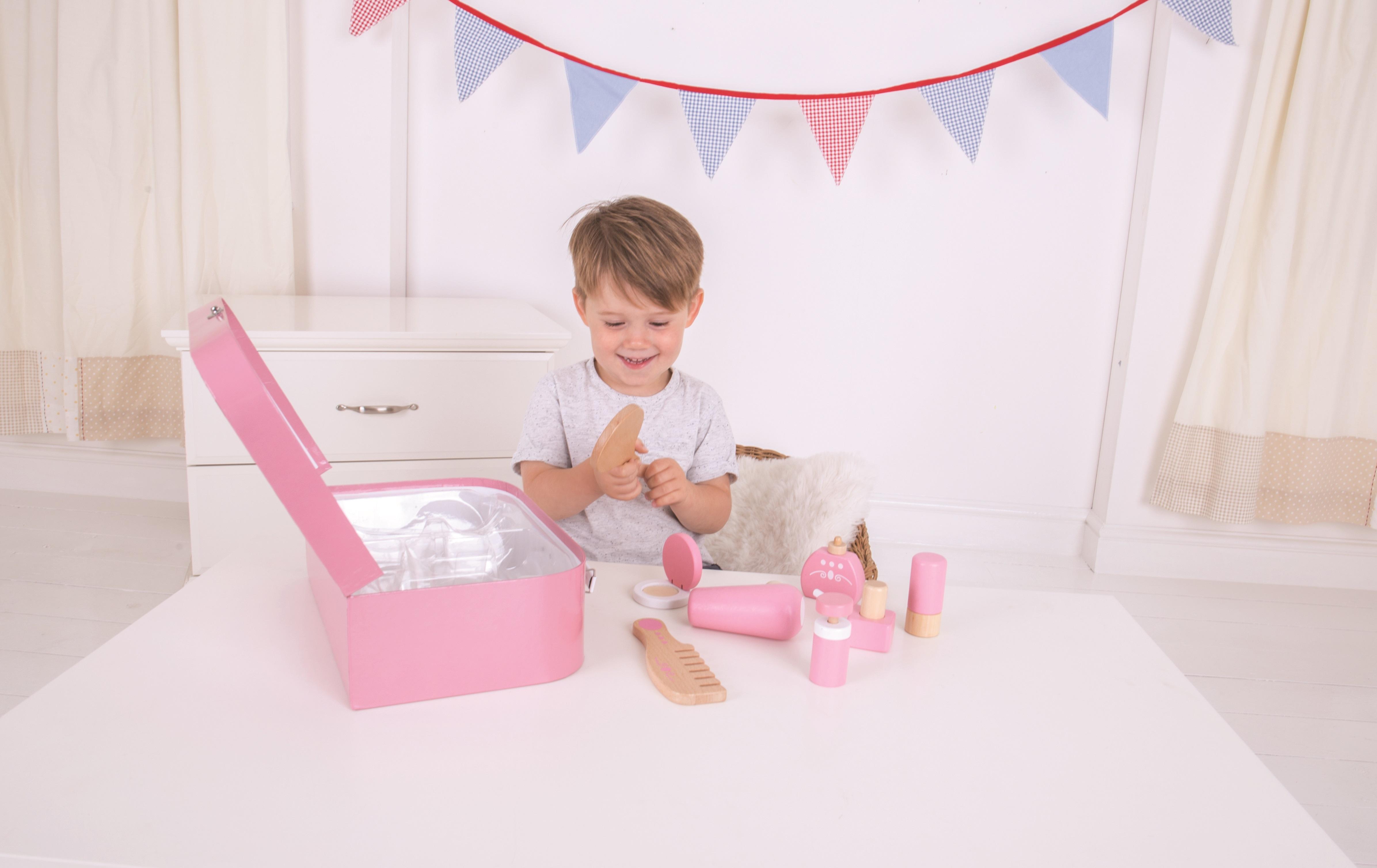 Bigjigs Toys Dřevěná kosmetická souprava