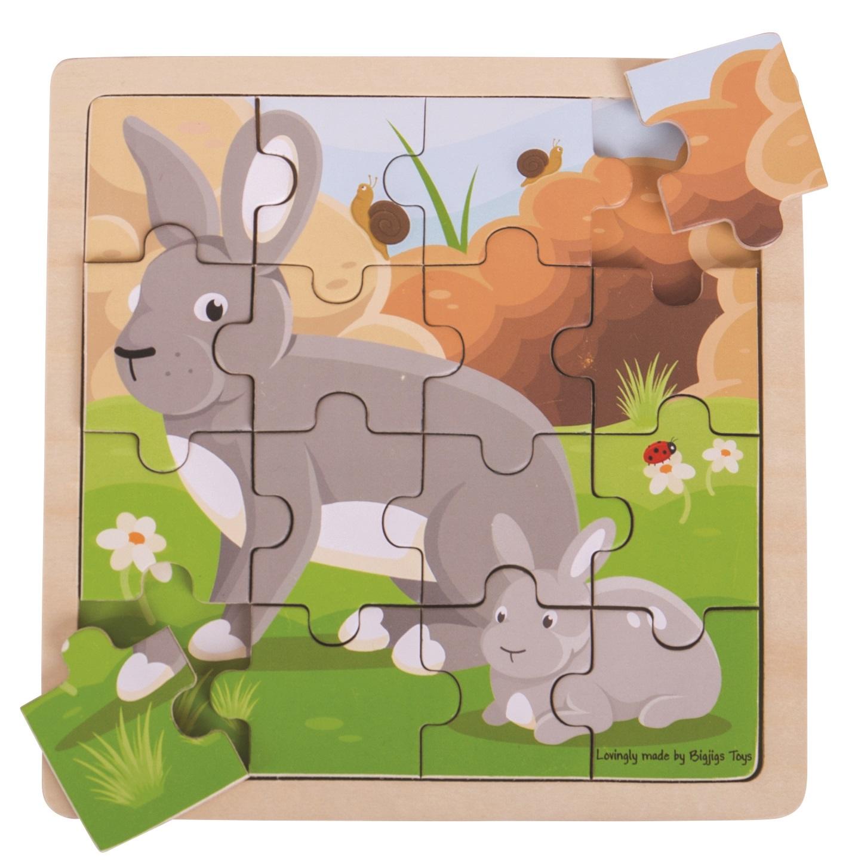 Bigjigs Toys puzzle - Králík s králíčkem