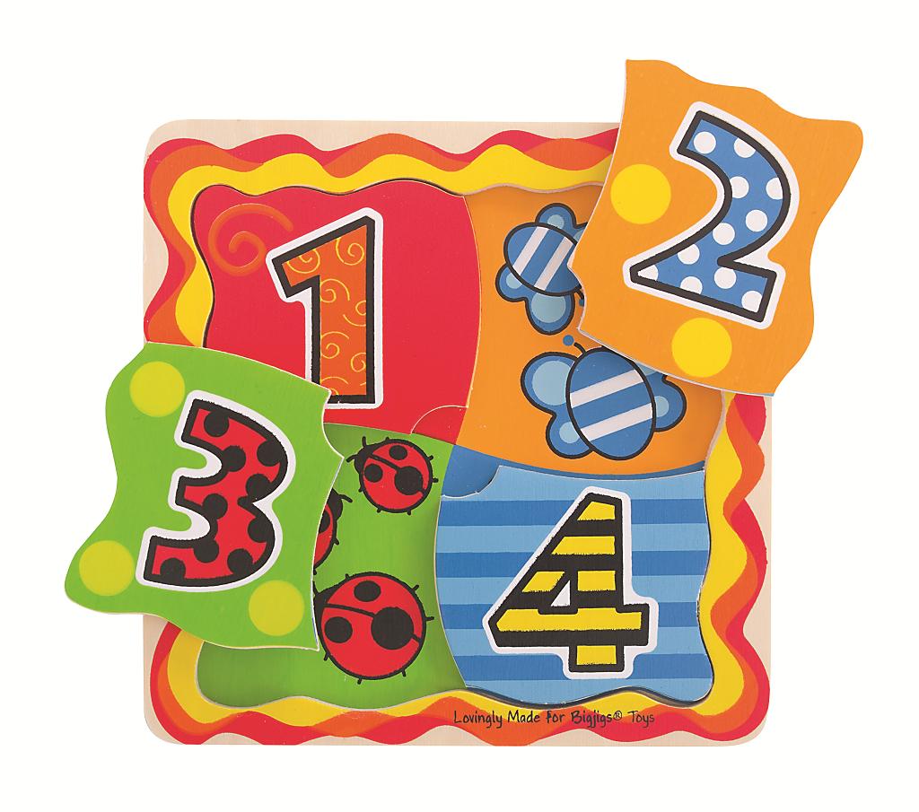 Bigjigs Toys Moje první počítací puzzle