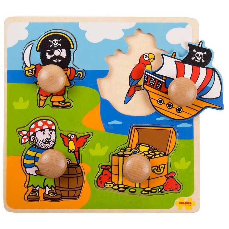 Bigjigs Toys Vkládací puzzle piráti