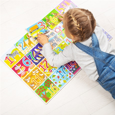 Bigjigs Toys Podlahové puzzle počítání 48 dílků