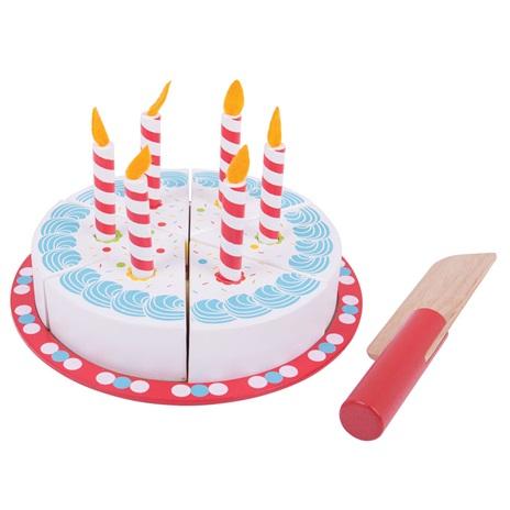 Bigjigs Toys Krájecí narozeninový dort