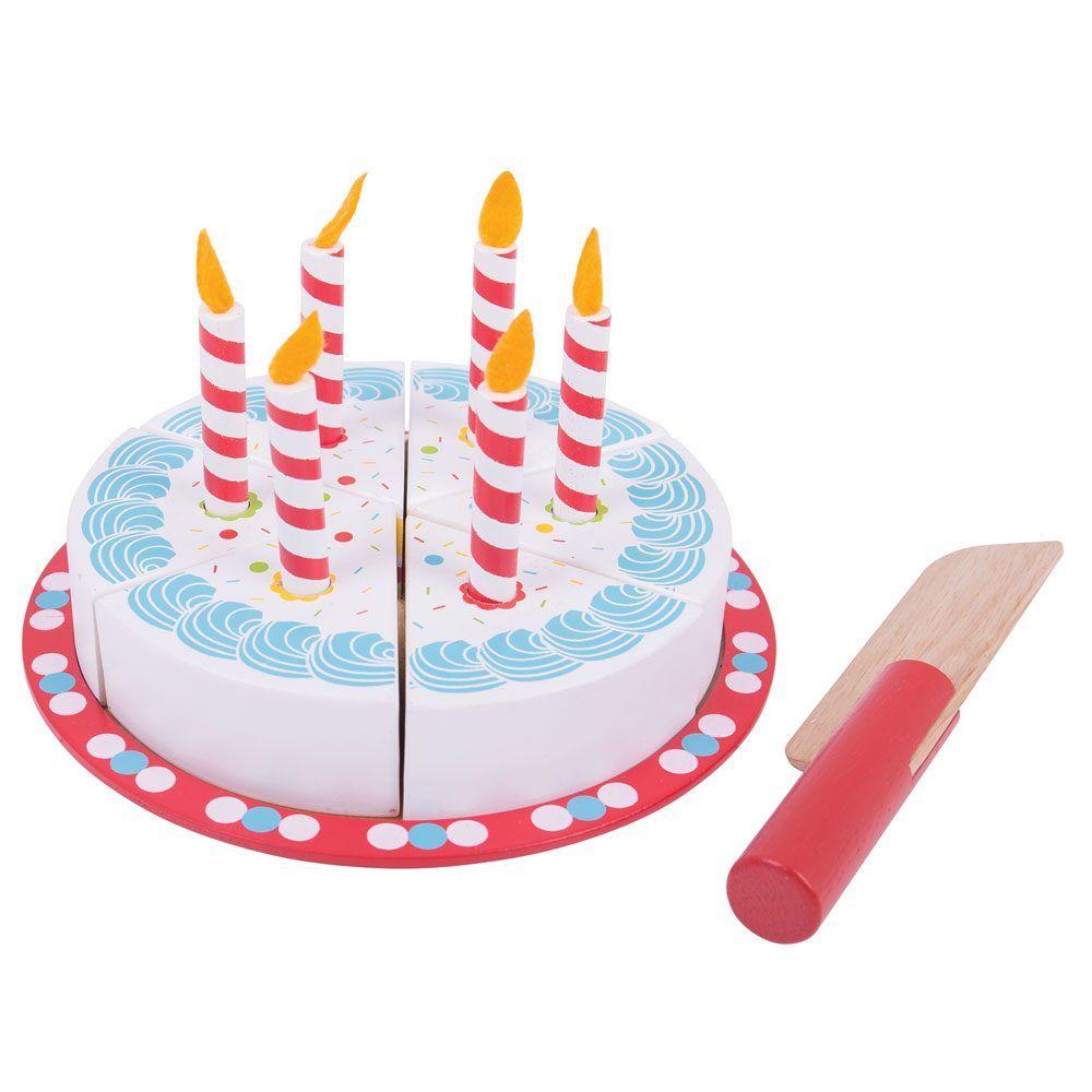 Bigjigs Toys Krájecí narozeninový dort - poškozený obal