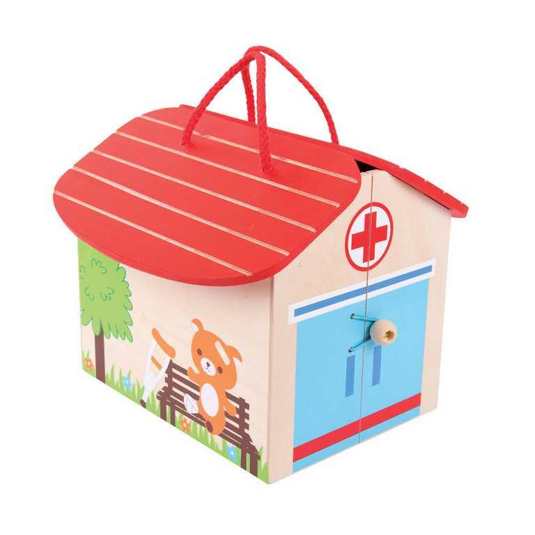 Dřevěná hračka - Hrací set Medvědí nemocnice