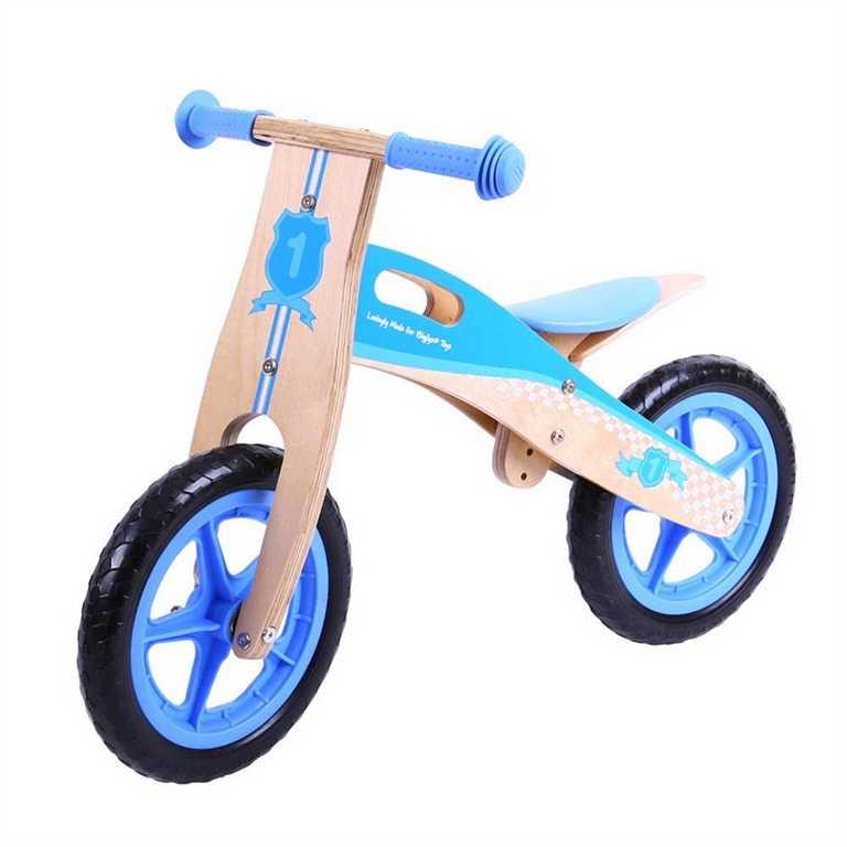 Bigjigs Toys Dřevěné odrážedlo modré