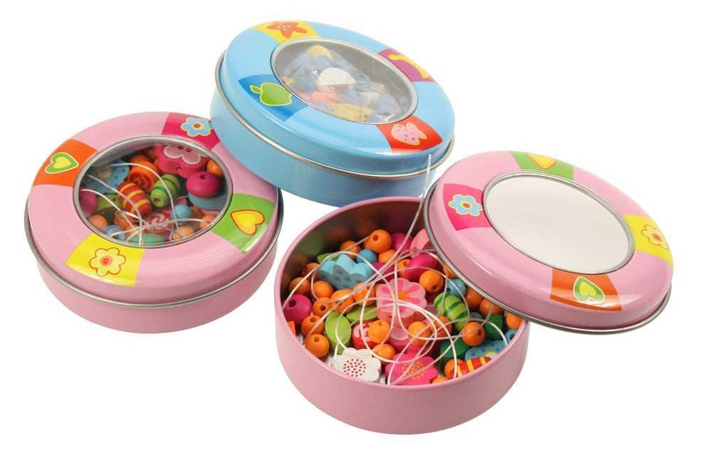 Bigjigs Toys dřevěné korálky - Bižuterie 1 ks