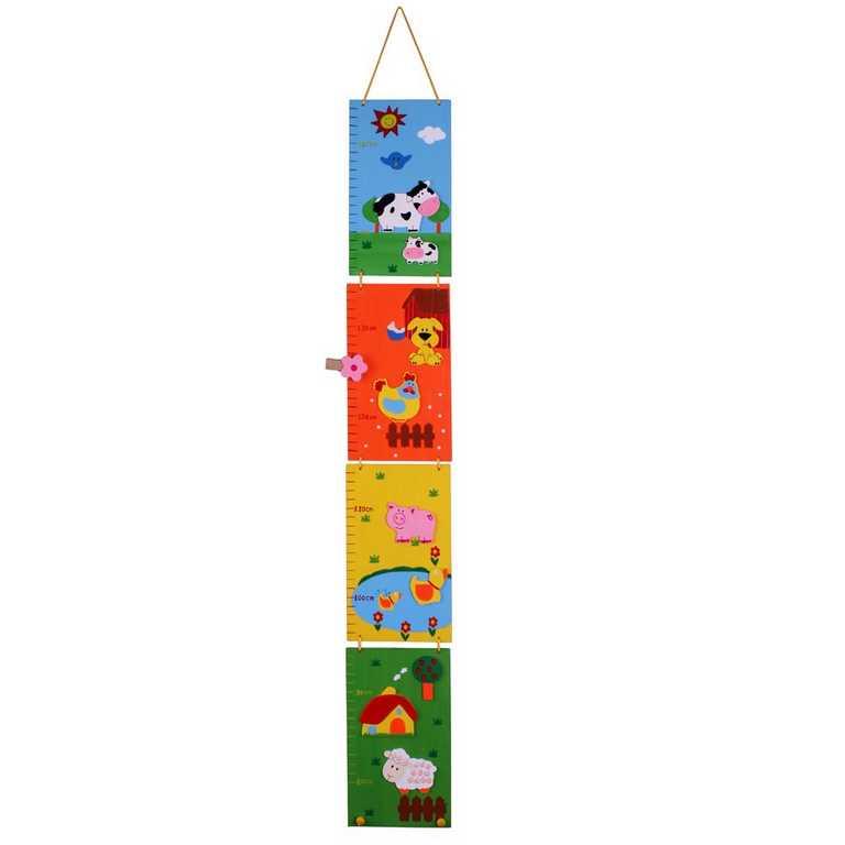 Bigjigs Toys dětský dřevěný skládací metr - Farma