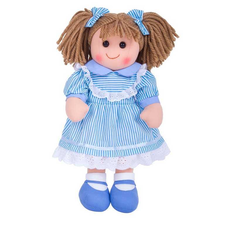 Bigjigs Toys Látková panenka Amelia 38 cm