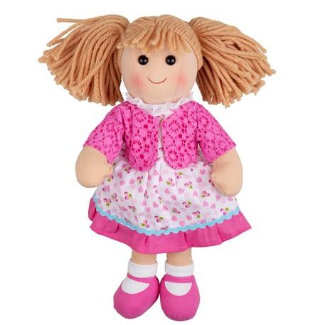 Bigjigs Toys Látková panenka Becky 38 cm