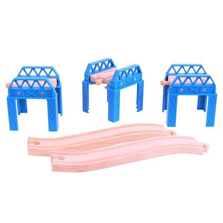 Bigjigs Rail Dřevěné koleje set mostní konstrukce