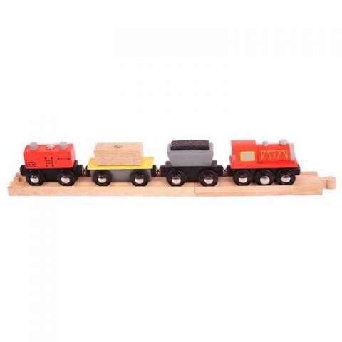 Bigjigs Rail Nákladní vlak + koleje