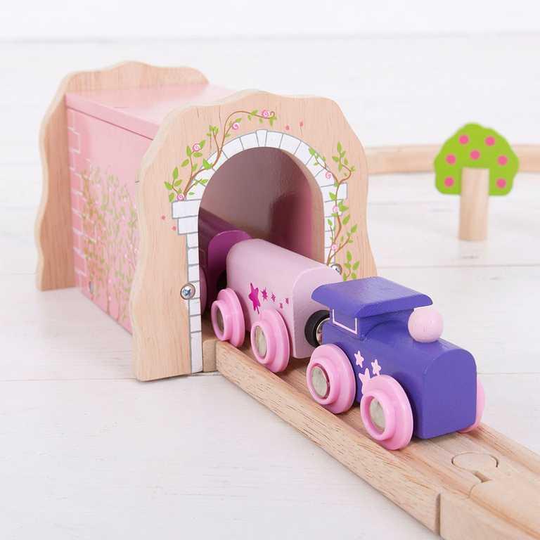 Bigjigs Rail Růžový železniční tunel