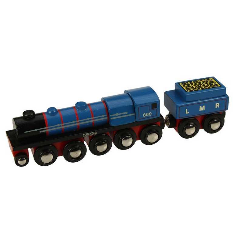 Bigjigs dřevěná replika lokomotivy - LMR Gordon + 3 koleje