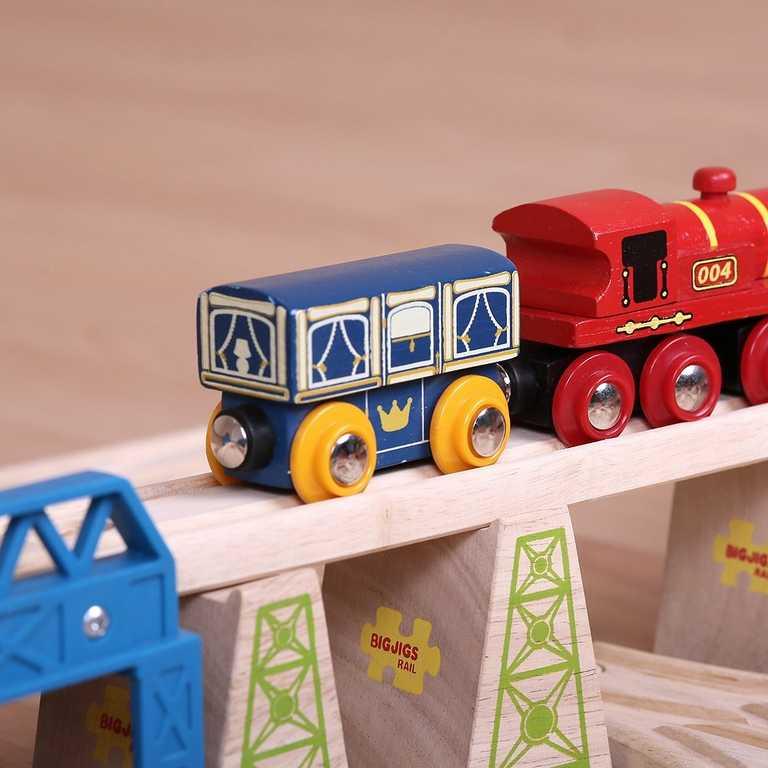 Bigjigs Rail dřevěná vláčkodráha - Královský vagónek