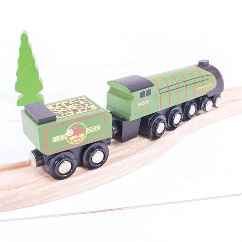 Bigjigs Rail dřevěná replika - Lokomotiva Eisenhower