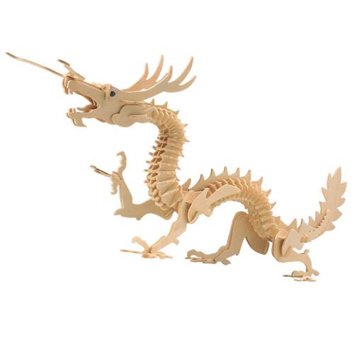 Woodcraft Dřevěné 3D puzzle velký drak
