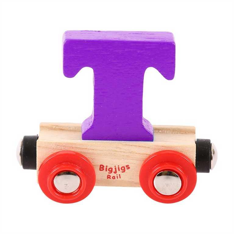 Bigjigs Rail vagónek dřevěné vláčkodráhy - Písmeno T